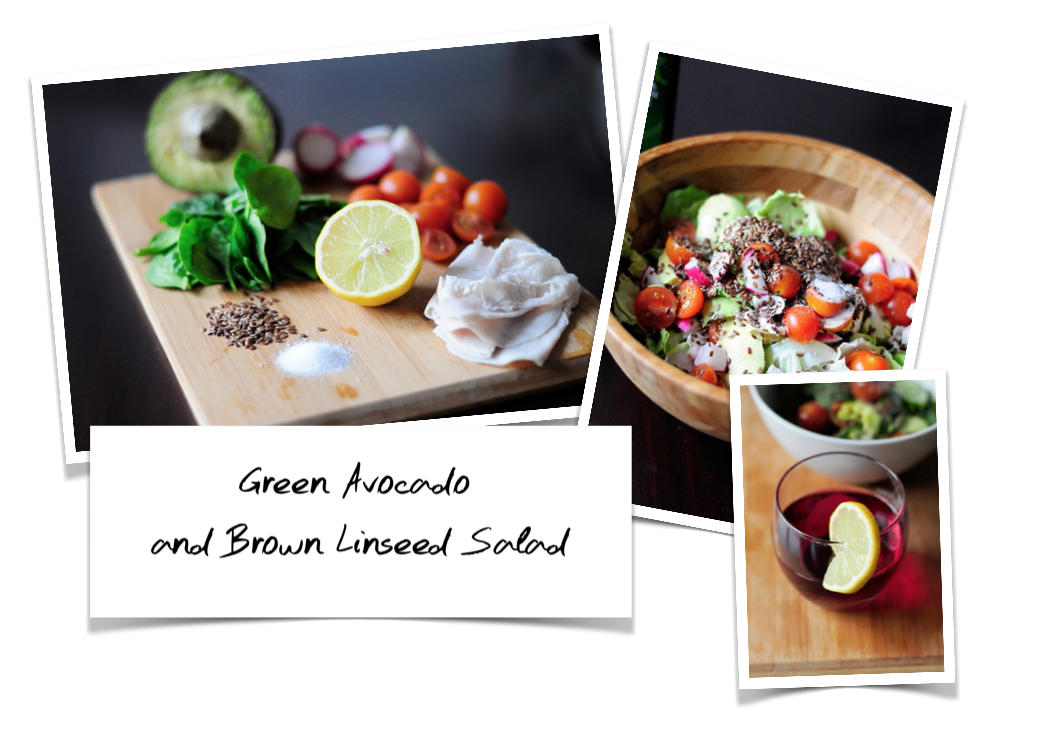 Green Avocado and Brown Linseed Salad