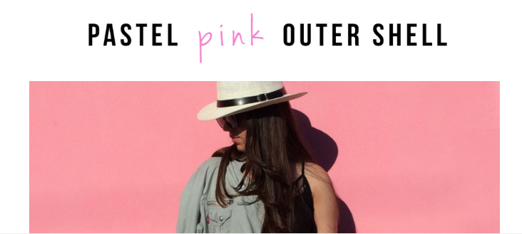 Pastel Pink Outer Shell