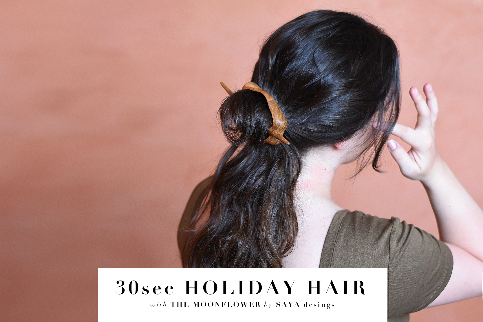30sec Holiday Hair Style Anyone can do