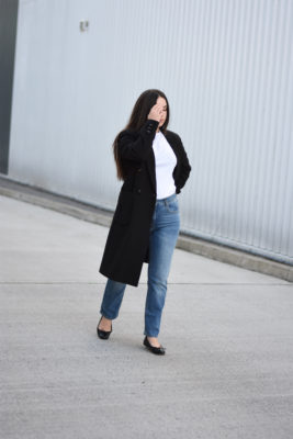 The in-between weather piece | A black coat edit